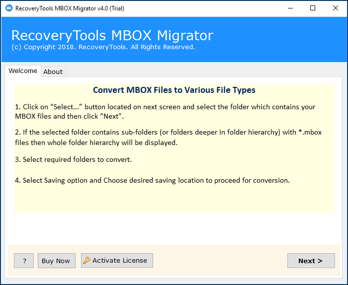 MBOX to PST Converter to Import MBOX files to Outlook 2019, 2016
