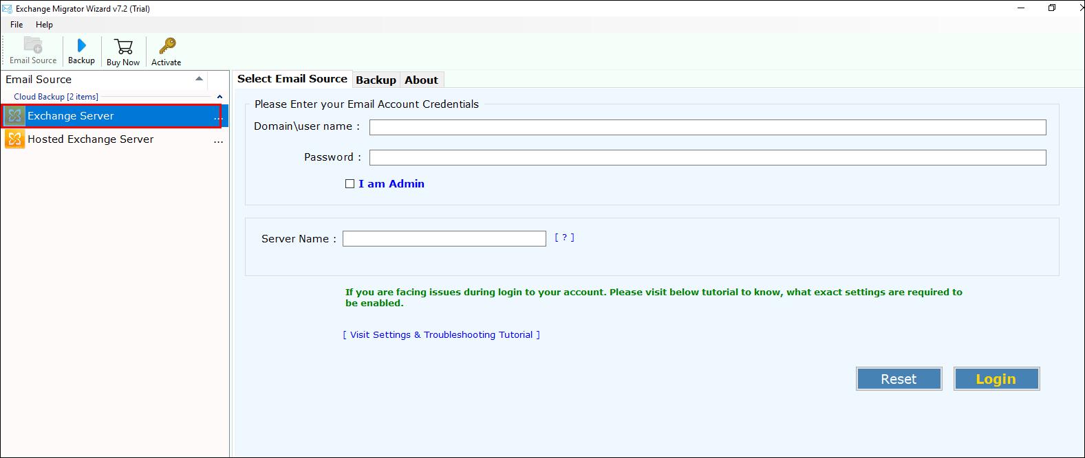 Exchange to Thunderbird Migrator – Export / Add Exchange to