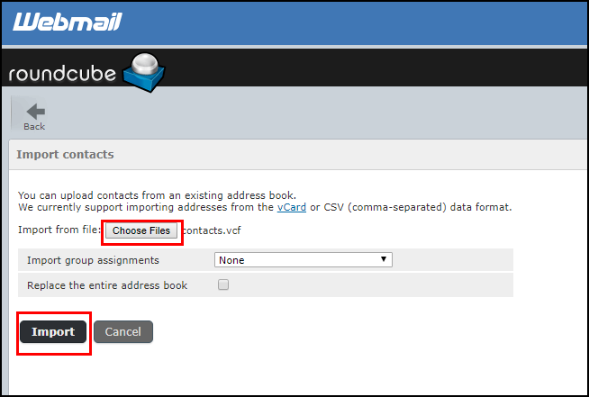 How to Import Outlook Contacts to Roundcube Webmail – Free