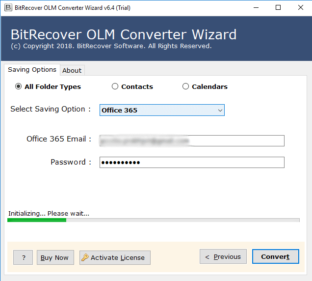 migrate olm files to office 365