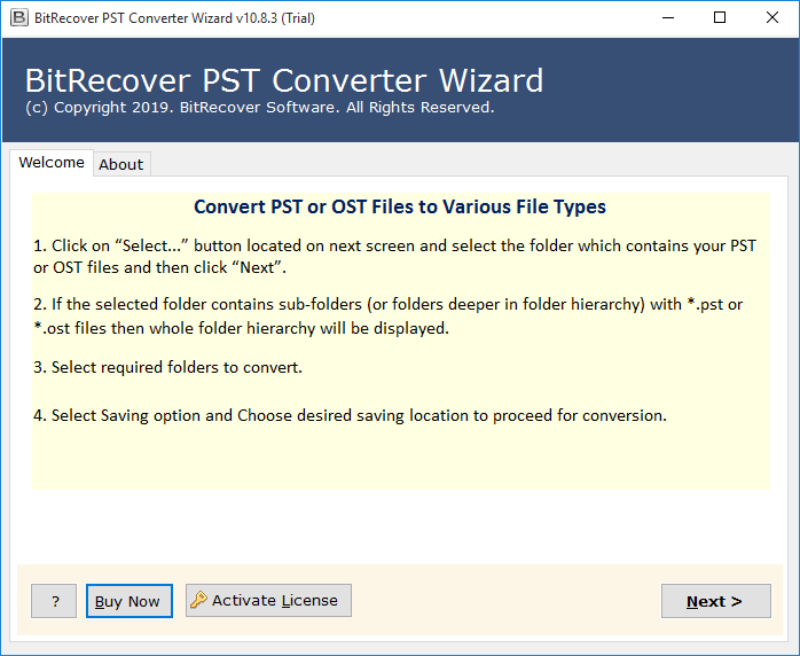 Import PST to Amazon WorkMail - PST to Amazon Workmail converter