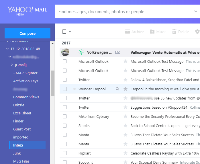 Import Outlook PST Emails to Yahoo Mail Using PST to Yahoo