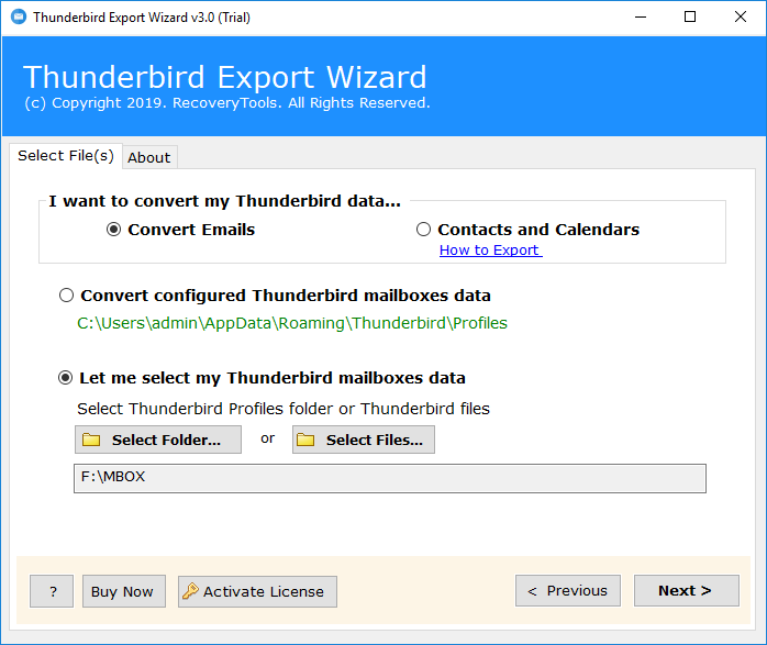 Thunderbird Export