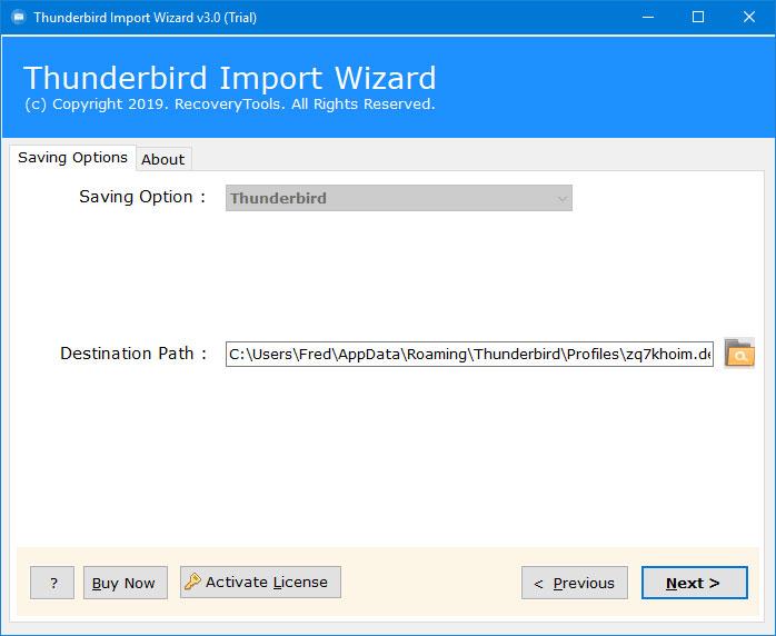 Thunderbird Import